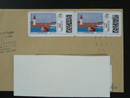 Phare Lighthouse Timbre En Ligne Sur Lettre (e-stamp On Cover) TPP 4265 - Phares