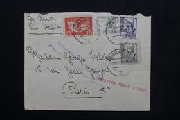 ESPAGNE - Enveloppe De Palma De Mallorca Pour Paris En 1937 Avec Contrôle Postal , Par Avion Via Rome - L 24788 - Republikanische Zensur