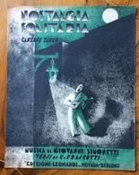 SPARTITO MUSICALE VINTAGE NOSTALGIA SOLITARIA Canzone Tango DIS. LING CASA MUSICALE  LEONARDI MUSIKVERLAG NOVARA BERLINO - Musica Popolare