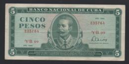 Banconota Cuba 5 Pesos 1985 Circolata - Cuba