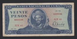 Banconota Cuba 20 Pesos 1983 Circolata - Cuba