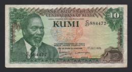 Banconota Kenia 10 Kumi 1978 Circolata - Kenia