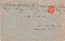 DR Infla Mi 163 Perfin Filo Firmenlochung Bf Bes Stempel MWSt Berlin 1921 - Covers & Documents
