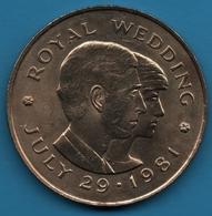 BAILIWICK OF JERSEY 2 POUNDS 1981 Royal Wedding Charles & Diana KM# 52 - Jersey