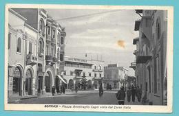 LIBIA LIBYA BENGASI PIAZZA AMMIRAGLIO CAGNI VISTA DAL CORSO ITALIA 1940 - Libye