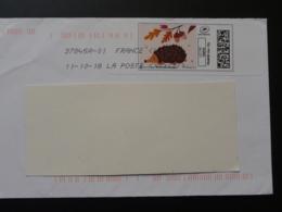 Hérisson Hedgehog Timbre En Ligne Sur Lettre (e-stamp On Cover) TPP 4351 - Other