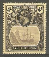 ST HELENA 1923 4d SG 92 WATERMARK MULTIPLE CROWN CA LIGHTLY MOUNTED MINT Cat £15 - Saint Helena Island