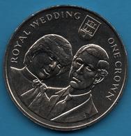 GIBRALTAR 1 CROWN 1981 Royal Wedding Prince Charles And Lady Diana KM# 14 - Gibraltar