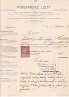PRAGUE 1903 / TRES BELLE FACTURE AVEC TIMBRE FISCAL 2 HELLER 1898 - Tchécoslovaquie