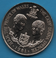 BAILIWICK OF GUERNSEY 25 PENCE 1981 Royal Wedding Prince Charles And Lady Diana KM# 36 - Guernsey