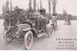 CPA S.M. ALPHONSE XIII - ROI D' ESPAGNE AU VOLANT DE SA 12 HP, 4 CYLINDRES DE DION-BOUTON - Non Classés