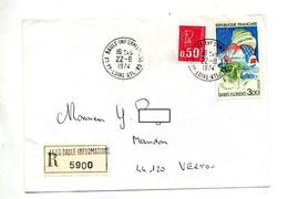 Lettre  Recommandee La Baule Information GA Sur Saint Florent - Marcophilie (Lettres)