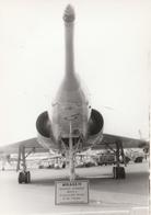 Rare Photo Véritable Salon Du Bourget Années 60 Mirage IV    Taille 12.7 X 9 Cm - Aviation