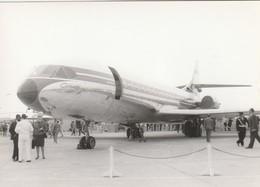 Rare Photo Véritable Salon Du Bourget Années 60 Caravelle   Taille 12.7 X 9 Cm - Aviation