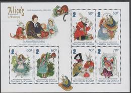 TRISTAN DA CUNHA, MNH, 2015, ALICE IN WONDERLAND, SHEETLET - Fairy Tales, Popular Stories & Legends