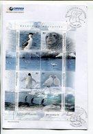 ANIMALS, ANIMAUX, ANIMALES ANTARTIDA ARGENTINA AÑO 2007, SOBRE PRIMER DIA HOJA / ENVELOPE FDC BLOCK -LILHU - Postzegels