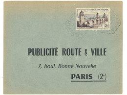 Publicité Route & Ville - Paris - Cachet Octogonal - Verso : Justificatif Affiche  (111796) - Publicité