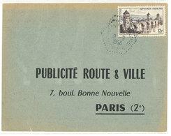 Publicité Route & Ville - Paris - Cachet Octogonal - Verso : Justificatif Affiche  (111797) - Publicité
