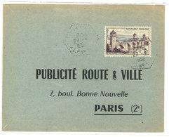 Publicité Route & Ville - Paris - Cachet Octogonal - Verso : Justificatif Affiche  (111798) - Publicité