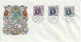 MALTA 1966 - NATALE  SACRA FAMIGLIA - SERIE COMPLETA SU FDC - Malta
