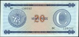 CUBA - 20 Pesos Nd. {Foreign Exchange Certificates} UNC P. FX23 - Cuba
