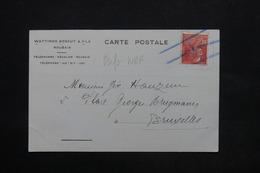 FRANCE - Type Berthelot Perforé WBF Sur Carte Commerciale De Roubaix En 1931 Pour Bruxelles - L 24798 - Perforés