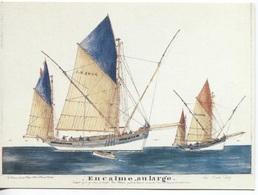 CPM - ILLUSTRATION Paul-Emile PAJOT - En Calme Au Large (Thonnier) - Edition Chasse-Marée Armen (format 16.5x12) - Pêche