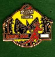 Pin's  Coca Cola  Jurassic Park Zamac - Coca-Cola