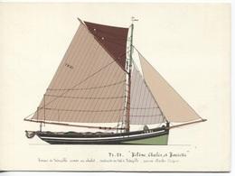 CPM - ILLUSTRATION Paul-Emile PAJOT - Barque De TROUVILLE Armée Au Chalut - Edition Chasse-Marée Armen (format 16.5x12) - Pêche