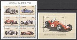 Guyana - Histoire Du Grand Prix, Voitures Sport - Feuillet + BF Neufs // Mnh - Guyane (1966-...)
