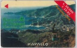 BIGLIETTO PARCHEGGIO MAGNETICO RAPALLO (E41.23.7 - Biglietti D'ingresso