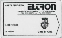 BIGLIETTO PARCHEGGIO MAGNETICO ALBA (E41.24.1 - Biglietti D'ingresso