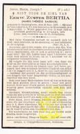 DP EZ Marie Th. Barbaix - Zr. Bertha ° Dentergem 1907 † Brugge 1944 / Klooster OLV Ten Bunderen Moorslede - Santini
