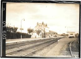 CAFFIERS - Pas De Calais - INTERIEUR DE LA GARE - Les Quais -  Epreuve Photo COMBIER A MACON  1962 - Trenes