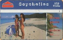 Seychelles - L&G, SEY-41, Beach Scene With Girls, 708A, 44,000ex, 8/97, Used As Scan - Seychellen