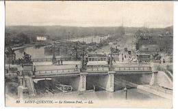 CPA  De  SAINT-QUENTIN (02)  -  Le Nouveau Pont Avec Tramway Et Péniches    //   TBE - Saint Quentin