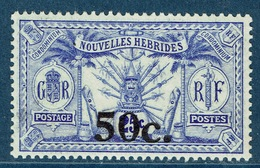 New Hebrides, Overprint 50c./25c., 1924, MNH VF - French Legend