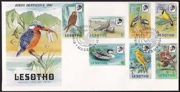 Lesotho, Birds, 1981, Complete Set On Two FDCs - Vögel