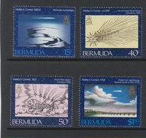 Bermuda. Halley's Comet, 1985, 4 Stamps - Zonder Classificatie
