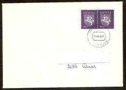LITHUANIA / LITAUEN 1994 Definitive Horseman / Reiter /Mi554 (first Printing) Letter Posted In LIT From PERLOJA - Lithuania