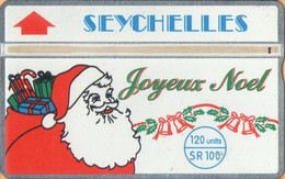 Seychelles - L&G, SEY-41, Joyeux Noel! Santa Clause, Christmas, 109C, 4,000ex, 9/91, Used As Scan - Seychellen