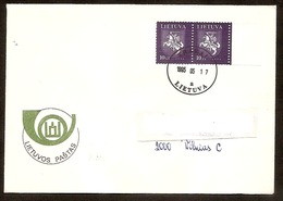 LITHUANIA / LITAUEN 1994 Definitive Horseman / Reiter /Mi554 (second Printing) Letter Posted In LIT From TRAKAI - Lithuania