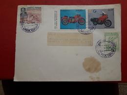 Le Paraguay Enveloppe Circulé Avec Timbres De Motocyclettes - Motos