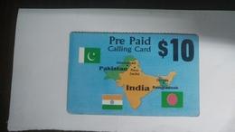 India-prepiad Card-(86)(10$)(1card)()(look Out Side)-used Card+2 Card Prepiad Free - India