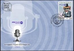 Serbia 2019. 50 Years Of Radio Belgrade 202, Microphone, Music, Radio, MNH - Serbie