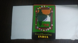 India-good Morning-(87)(20$)(1card)(457781991733)(look Out Side)-used Card+2 Card Prepiad Free - Indien