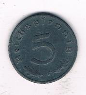 5 PFENNIG 1942 F  DUITSLAND/2128/ - 5 Reichspfennig