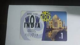 India-wow India-(88)(bd1)(1card)(1569945)(look Out Side)-used Card+2 Card Prepiad Free - Indien
