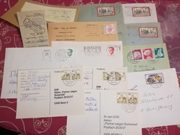 LOT 50 LETTERS AND DOCUMENTS. WORLDWIDE - Sellos