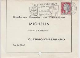 31 05 1963 - NOTRE DAME DE GRAVENCHON - Sa Cité Fleurie, Raffinage, Pétrochimie - C - Storia Postale